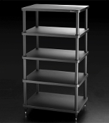 433. Solidsteel S3-5 Five Shelf Audio Rack